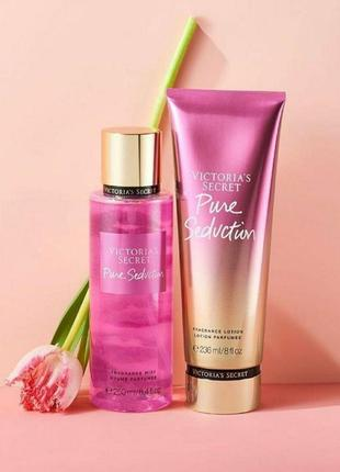 Набор лосьон + спрей для тела pure seduction victoria's secret 🔥акция!🔥 получи скидку 7%