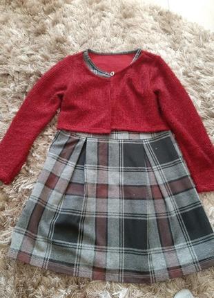 Плаття тепле для дівчинки 6-8 років
