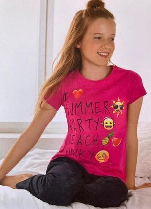 Комплект - пижама для девочки emoji бельгия . р. 146/152