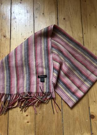 Шерстяной брендовий шарф