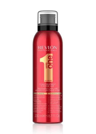 Маска-пенка для тонких волос revlon professional uniq one foam treatment