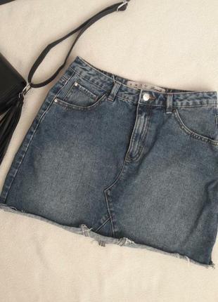 Стильна джинсова спідниця, розмір 38