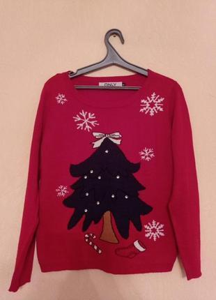 Теплый новогодний свитерок