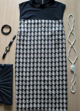 Стильное платье -туника  в принт