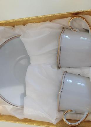 """Керамічний чайник тм """"інтерос"""" 850 мл та кавовий набір для 2-х персон"""