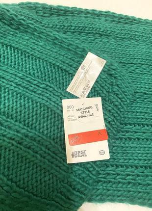 Sale! зелёный тёплый шарф