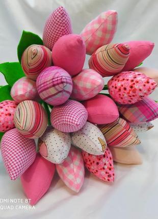 Тюльпаны текстильные. декор