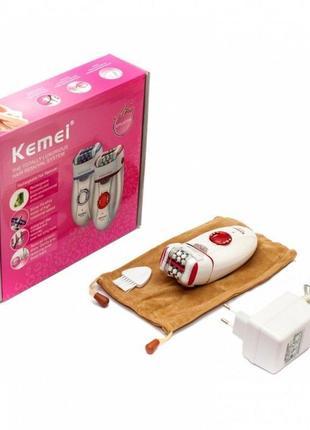 Эпилятор kemei km-2666 аккумуляторный 36 пинцетов с двойной голов