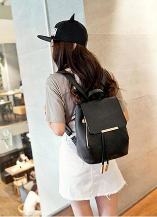 Молодежный стильный рюкзак сумка для города/школы invito италия кож-зам