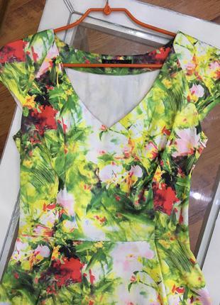 Летнее разноцветное платье kira plastinina