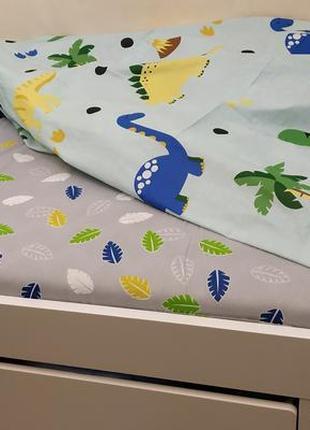Детское постельное белье бязь голд люкс с дмнозаврами, подростковый,полуторный,двуспальный