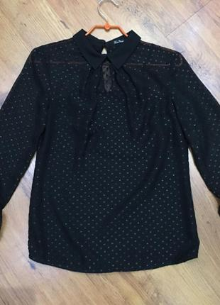 Черная нарядная блузка kira plastinina