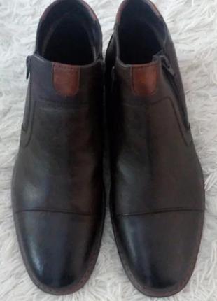 Кожаные туфли демисезонные