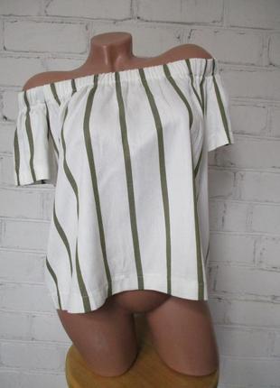 Блуза/рубашка/футболка с открытыми плечами/з відкритими плечами