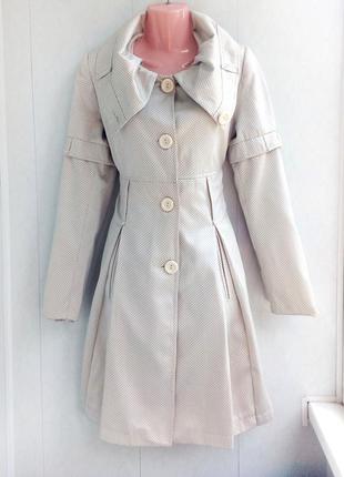Дешево! красивое пальто в горошек (пальтишко / куртка / курточка / френч)