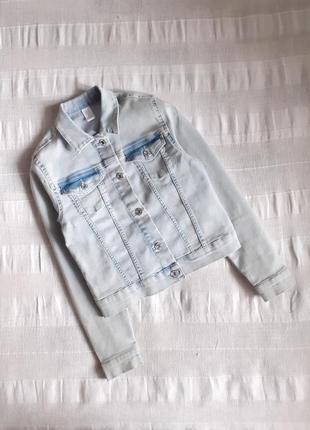 Джинсовая куртка(пиджак) denim р.146 на 10-11лет