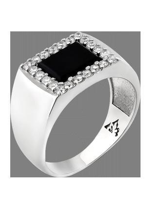 Кольцо мужское из серебра