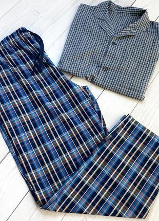 Мужская пижама в клетку одежда для дома аутлет новое