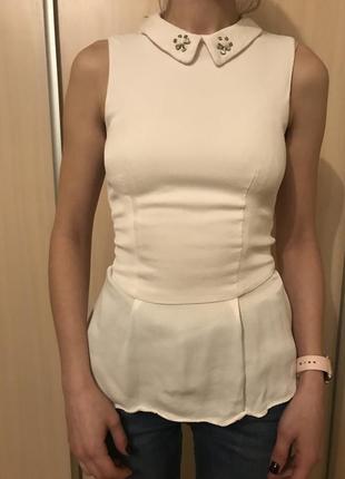 Белая блуза naf naf