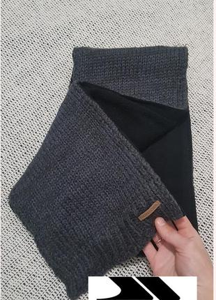 Теплый шарф trespass, двухсторонний, вязаный