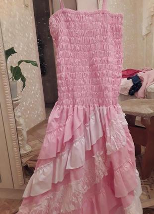 Романтическое платье с болеро из хлопка