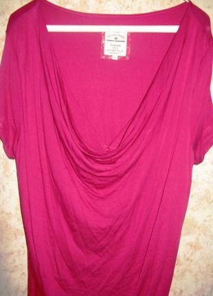 Трикотажное платье туника\сарафан\ цвета марсала