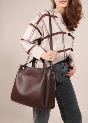 Женская сумка - шоппер с плечевым  ремешком в комплекте