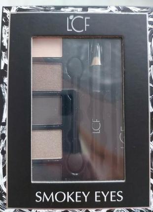 Набор подарочный lcf для макияжа (тушь для ресниц + карандаш для глаз черный + тени)