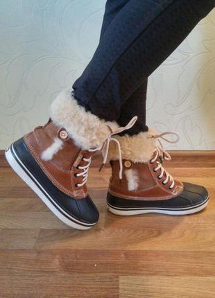 Продам зимние сапоги crocs allcast luxe женские ботинки крокс новые