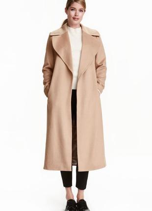 Шерстяное пальто h&m conscious