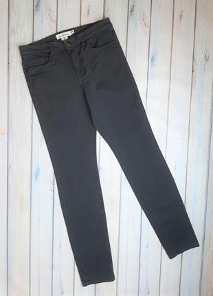 💥1+1=3 базовые серые узкие зауженные женские джинсы h&m, размер 44 - 46