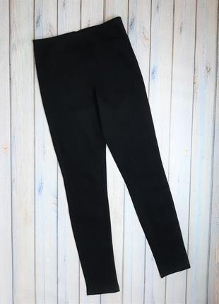 💥1+1=3 черные зауженные узкие джинсы скинни высокая посадка pieces, размер 46 - 48