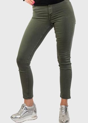 💥1+1=3 женские узкие зауженные джинсы скинни хаки h&m, размер 42 - 44