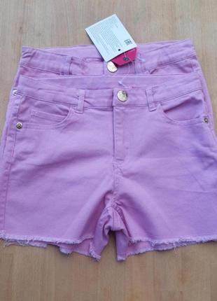 Пудровые джинсовые шорты