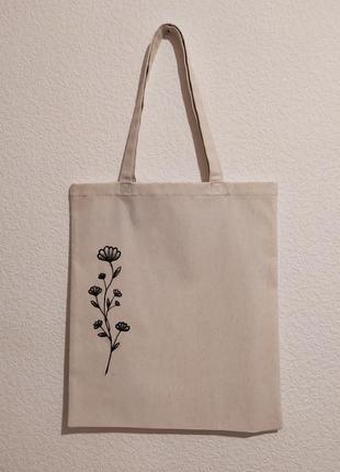 Эко сумка ручной работы и ручной росписи