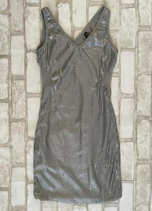 Платье с пайетками gloria jeans