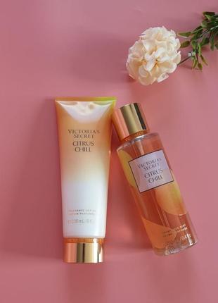 Набор лосьон + спрей для тела citrus chill victoria's secret 🔥акция!🔥 получи скидку 7%