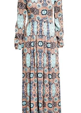 H&m  платье из вискозы макси в пол