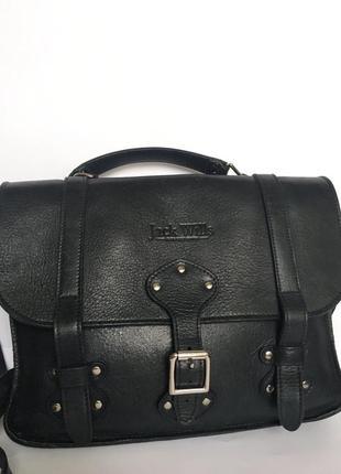 Стильная сумка-портфель jack wills англия,натуральная кожа