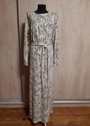 Длинное платье в пол с ангоркой14%