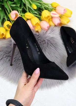 Туфли stylet на шпильке черные