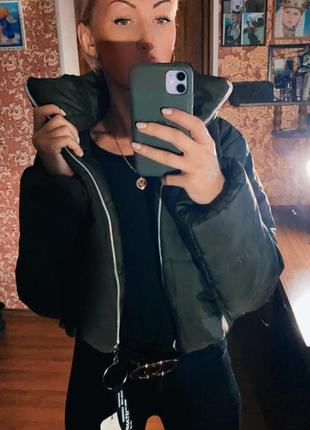 Хаки куртка тренд стильная-s m