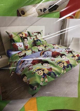 Новое детское постельное белье с щенячим патрулём