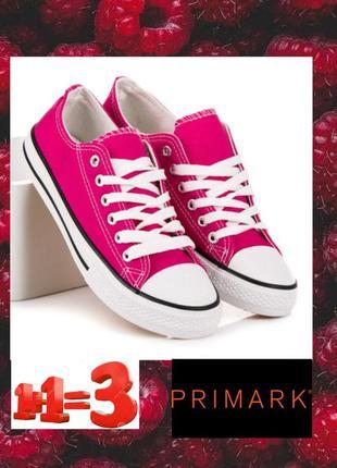 ♥1+1=3♥ primark розовые текстильные кеды