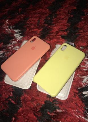 Чехли на iphone xs max x s max новие жовтий і персиковий новие