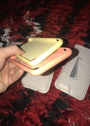 Чехли на iphone xs max x s max новие жовтий і персиковий новие4 фото