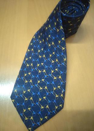 Ориганальный галстук бренд celine