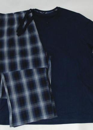Пижама трикотаж-фланель george-primark ххл