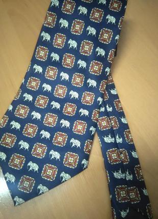 Оригинальнальный галстук с принтом слона