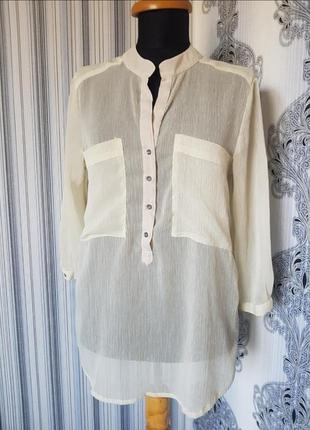 Брендовая топовая базовая шифоновая блуза рубашка only серая зеленая хаки блузочка